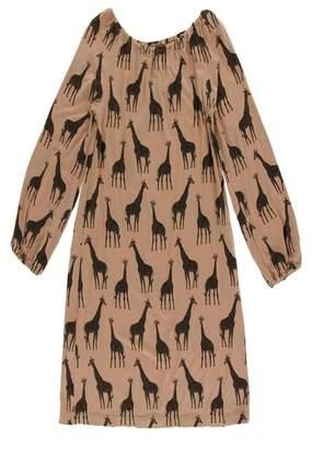 Kickee Pants Giraffe Peasant Dress