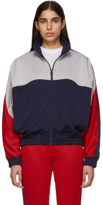 Nike Grey and Blue Martine Rose Edition NRG K Track Jacket