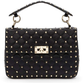 Valentino Black Garavani Medium Rockstud Spike Bag