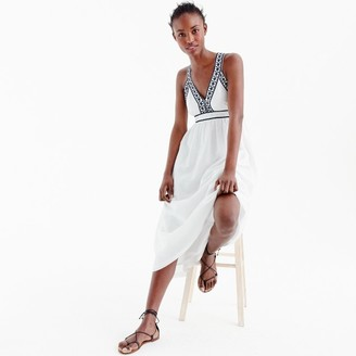 Embroidered cross-back maxi dress $128 thestylecure.com