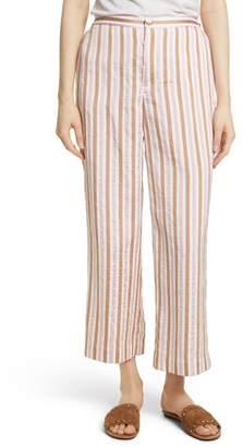 Frame Stripe Relaxed Leg Crop Pants