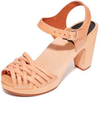 Swedish Hasbeens Braided Sky High Sandals