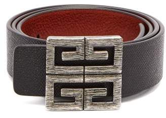 Givenchy 4g Logo Buckle Reversible Leather Belt - Mens - Black Brown