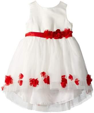 Nanette Lepore Kids Matte Satin Dress w/ Flowers Girl's Dress