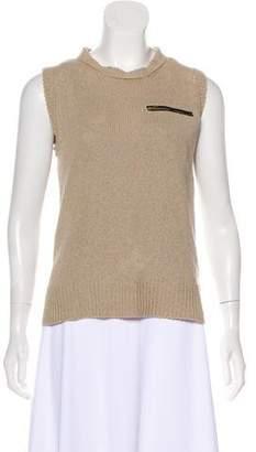 Celine Sleeveless Linen Top
