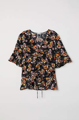 H&M Drawstring Blouse - Black