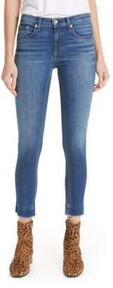 Rag & Bone Raw Hem Ankle Skinny Jeans