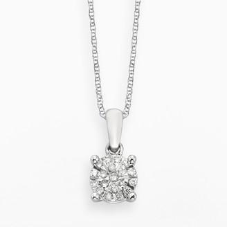 Brilliance+ Diamond Brilliance Sterling Silver 1/8-ct. T.W. Diamond Pendant