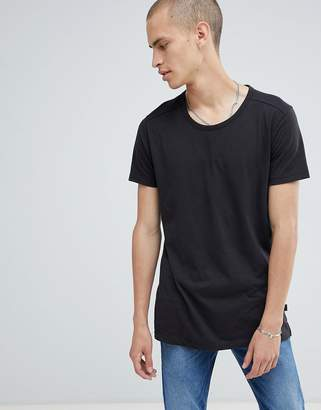 Lee t-shirt with stepped hem black