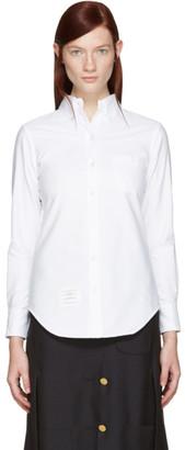 Thom Browne White Classic Shirt $350 thestylecure.com