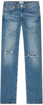A Gold E Agolde Hitch Distressed Jeans