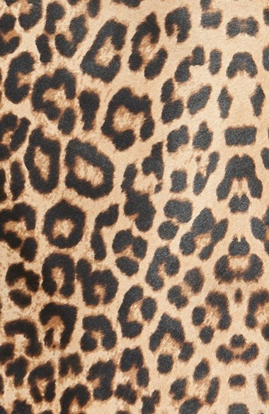 Halogen Leopard Print Genuine Calf Hair & Leather Pencil Skirt (Regular & Petite)