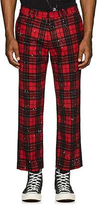 R 13 Women's Plaid Cotton Flannel Trousers - Red