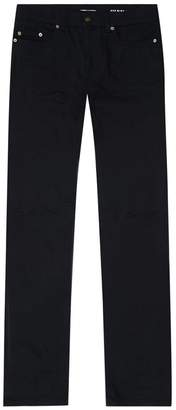 Saint Laurent Skinny Ripped Knee Jeans