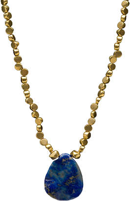 Brass Fusion Russian Lapis Brass Necklace