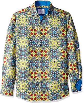 60afd383 Azaro Uomo Men's Big and Tall Long Sleeve Dress Shirt Casual Button Down  Slim Fit,