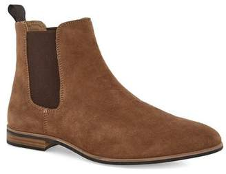 Topman Mens Brown Tan Suede Chelsea Boots