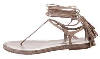 Miu Miu Suede Lace-Up Sandals