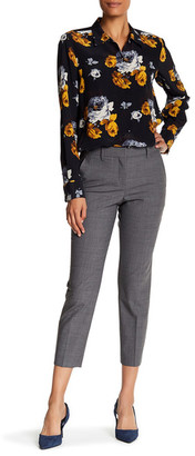 Theory Treeca Wool-Blend Cigarette Trouser $315 thestylecure.com