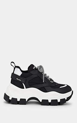 Prada Women's Leather & Nylon Sneakers - Black