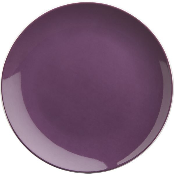 "Crate & Barrel Amethyst 6.5"" Appetizer Plate"
