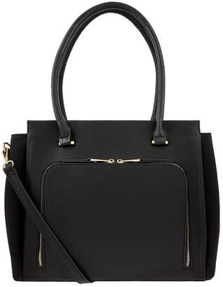 Accessorize Womens Black Morgan Work Tote Bag - Black
