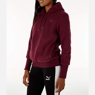 Puma Women's Sherpa Downtown Pullover Hoodie
