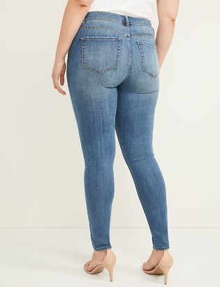 Lane Bryant Signature Fit Skinny Jean - Rhinestones with Destruction