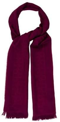 Salvatore Ferragamo Wool & Silk-Blend Gancini Scarf
