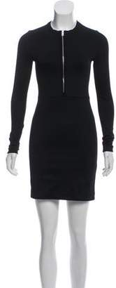 Rag & Bone Long Sleeve Zip-Up Dress