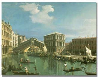 "Rialto Trademark Global Trademark Global Canaletto 'The Bridge, Venice' Canvas Art - 24"" x 18"" & Reviews - All Wall Décor & Mirrors - Home Decor - Macy's"