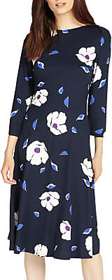 Phase Eight Cassie Floral Dress, Navy