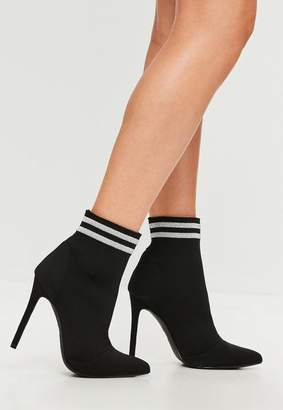 Missguided Pointed Stripe Boots