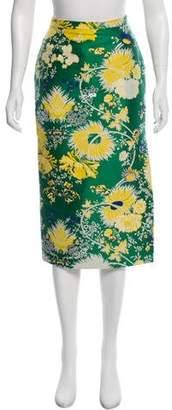 Rochas Brocade Print Skirt