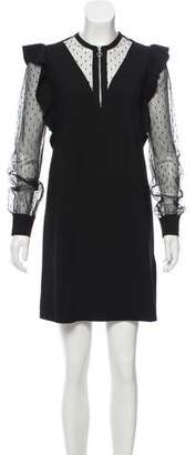 RED Valentino Lace-Accented Mini Dress w/ Tags