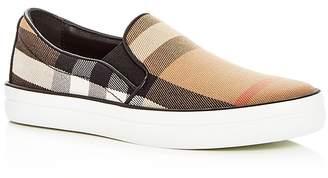 Burberry Women's Gauden Signature Check Slip-On Sneakers