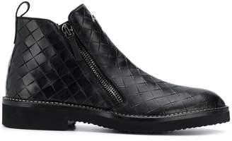 Giuseppe Zanotti Design woven ankle boots