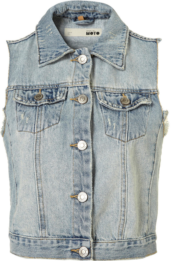 Tall Sleeveless Denim Jacket