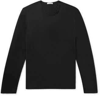 James Perse Cotton and Cashmere-Blend T-Shirt - Men - Black