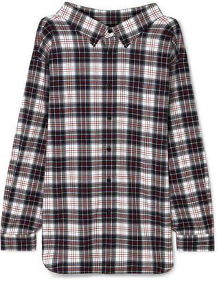 Balenciaga Swing Oversized Checked Cotton-flannel Shirt - Black