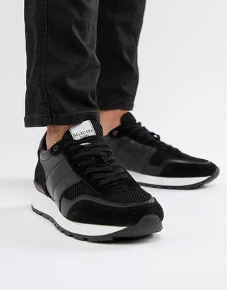 Selected Premium runner trainer in black