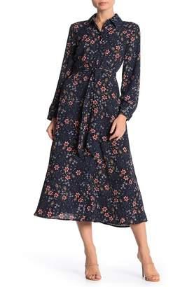 Spense Patterned Tie Waist Maxi Dress