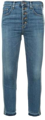 Veronica Beard side stripe cropped jeans