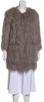 Smythe Faux Fur Knee-Length Coat