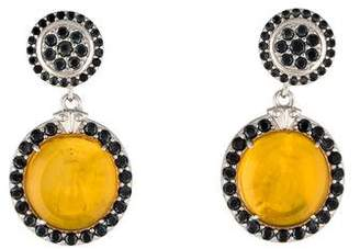 Tagliamonte Mother of Pearl & Spinel Venetian Intaglio Drop Earrings