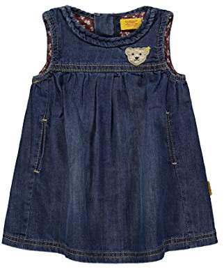 Steiff Girl's Kleid o. Arm Jeans 6833108 Dress,9-12 Months