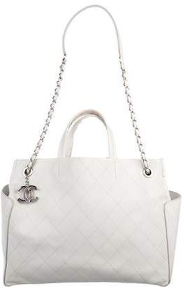 Chanel Large Quilted Shopper Tote