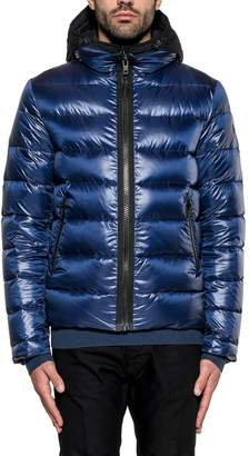 Fay Blue Double Front Hooded Down Jacket