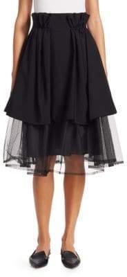 Noir Kei Ninomiya Tiered Tulle Paper Bag Waist Skirt