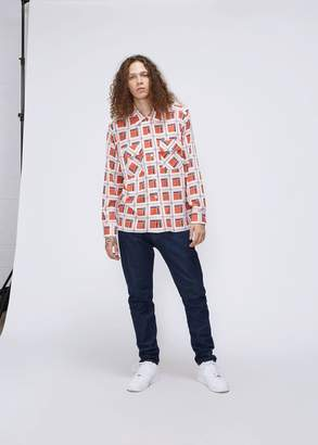 Needles Cut-Off Bottom Block Plaid Classic Shirt
